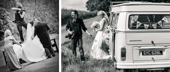 Chris Fossey Photograhy at work photographing weddings at Swallows Nest Barn and Arrow Mill Warwickshire